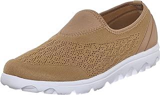 Propét Women's TravelActiv Slip-On Sneaker, Honey, 7 Narrow