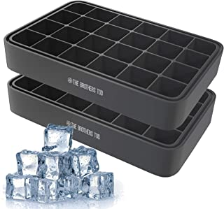 The Brothers Tod Silicone Ice Cube tray with Removable Lid - Makes 24 Ice Cubes - Flexible & Easy Release Trays - Keeps Yo...