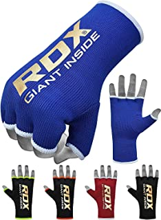 RDX Boxing Hand Wraps Inner Gloves for Punching - Half Finger Elasticated Bandages Under Mitts Fist Protection - Great for...