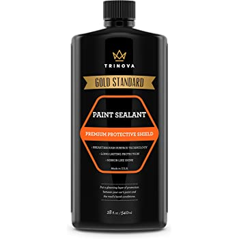 TriNova Paint Sealant Car Wax for Long Lasting Protection & Shine. Synthetic Polymers Seal The Surface to Prevent UV Damage and Produce Deep Glossy Coat 18oz