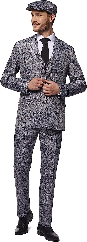 1920s Men's Costumes: Gatsby, Gangster, Peaky Blinders, Mobster, Mafia SUITMEISTER Grey Gangster Halloween Suit | Unisex Slim Fit | Includes Grey Blazer Jacket Pants & Tie  AT vintagedancer.com