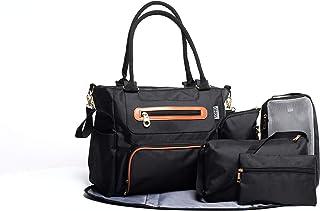SoHo Grand Central Station Diaper Bag 7Pc, Black