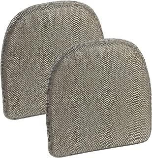Klear Vu Herringbone Gripper Essentials Non-Slip Dining Kitchen Chair Pad, Set of 2, 15