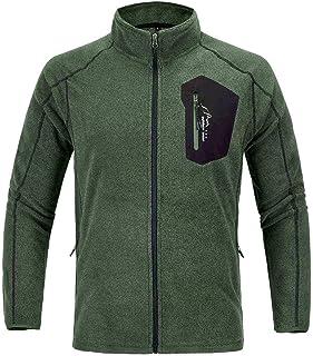 TBMPOY Men's Full-Zip Soft Polar Fleece Jacket Sport Mountain Coat
