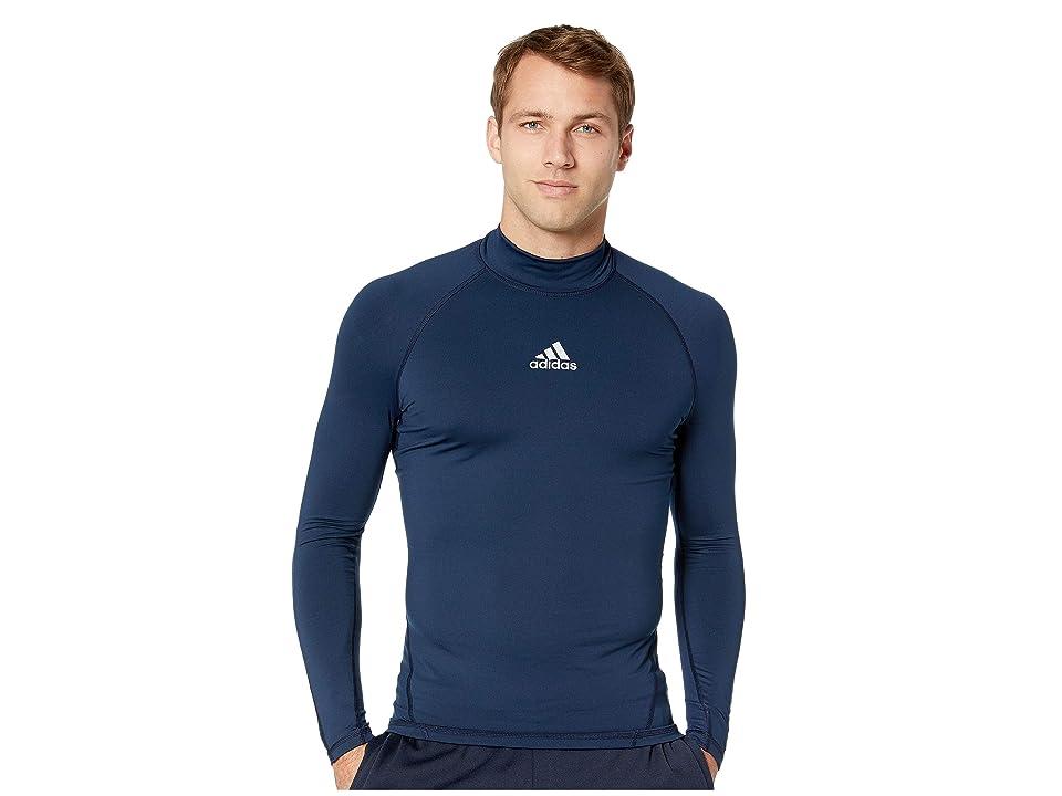 adidas Alphaskin Sport Long Sleeve Climawarm Tee (Collegiate Navy) Men