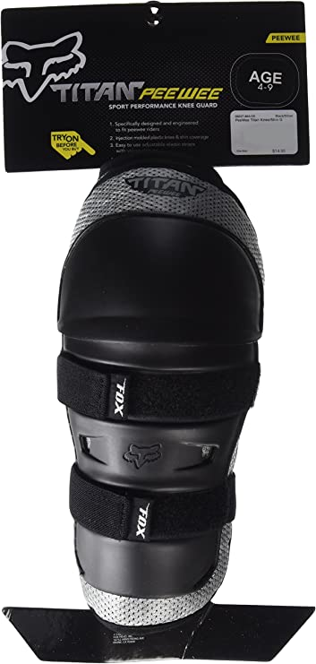Fox Peewee Titan Knieprotektor 4 7 Farbe Schwarz Silber Größe Os Auto