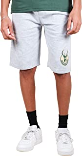 Ultra Game NBA Milwaukee Bucks Men's Active Workout Stripe Basketball Shorts, Heather Gray, X-Large