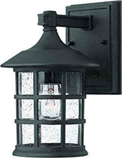 Hinkley 1800BK Traditional One Light Wall Mount from Freeport collection in Blackfinish,