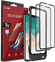 iCarez [Full Coverage Tempered Glass + Tray Installation Screen Protector for iPhone X iPhone Xs 5.8 Inch (Case Friendly) Easy Install [ 2-Pack 0.33MM 9H 2.5D]