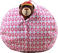 MX kingdom Toy Storage Bag for Kids - Large Basket Box for Soft Toys, Stuffed Animals, Laundry, Bedding, Children Clothes - Bean Bag Chair - Declutter Your Home,Stuffed Animal Organizer