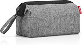 reisenthel Travelcosmetic Toiletries Bag, Structured Pouch with Wristlet, Twist Silver