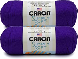 Bulk Buy: Caron Simply Soft Yarn Solids (2-pack) (Iris)