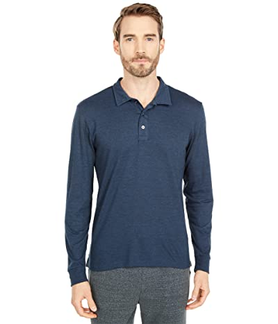 Threads 4 Thought Tri-Blend Long Sleeve Polo (Midnight) Men