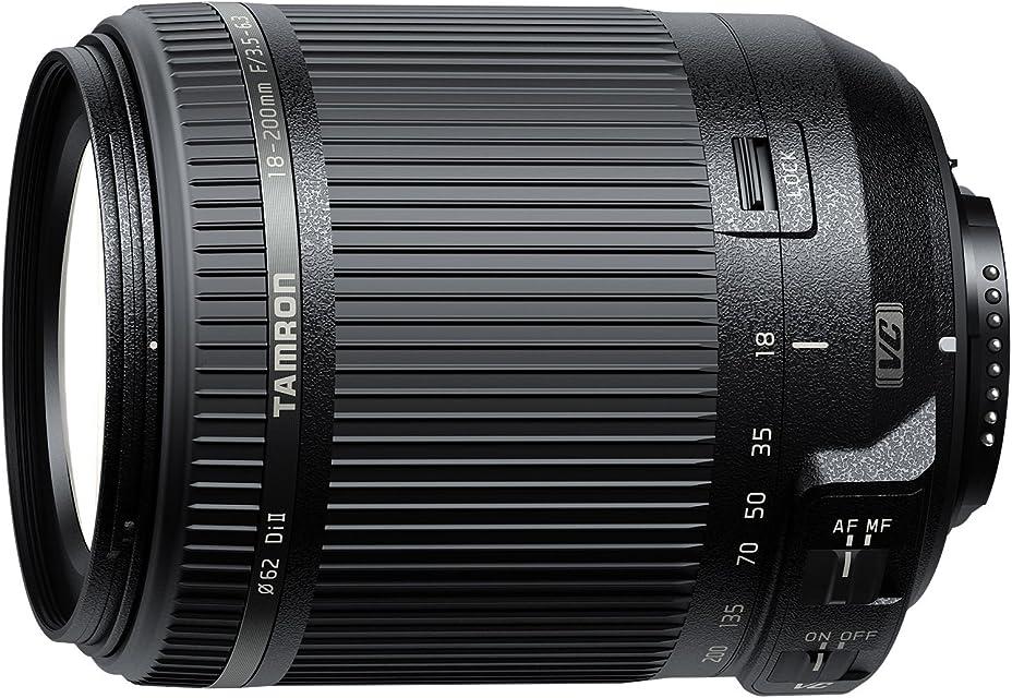 Tamron AF 18-200 mm F/3.5-6.3 XR Di II VC - Objetivo para cámara Nikon Distancia Focal 18-200mm Apertura f/3.5-6.3 Estabilizador Óptico Diámetro Filtro 62mm color Negro