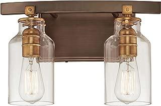 Minka Lavery Wall Light Fixtures 3552-588 Morrow Wall Bath Vanity Lighting, 2-Light 120 Watts, Bronze