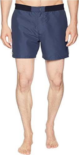 Piped Taffeta Swimming Trunks