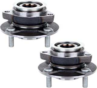 ECCPP Replacement for Pair of 2 Front Wheel Hub Bearing Assembly for 2007-2014 N-issan Tiida 2007-2011 N-issan Versa 4 Lug...