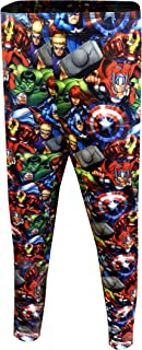 Men's Comics Avengers Character Mash Up Jogger Lounge Pants