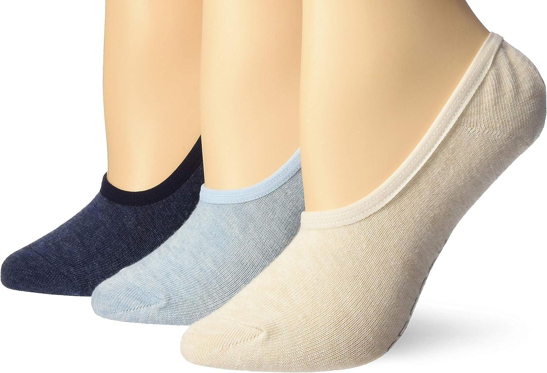 Sperry womens Solid Canoe 3 Pack Liner Socks