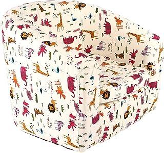 Emall Life Sillón de Lujo para niños Silla para bañera Sofá de Dibujos Animados Estructura de Madera (Animales)