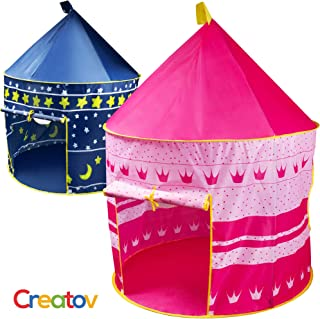 Best Creatov Kids Tent Toy Princess Playhouse - Toddler Play House Pink Castle for Kid Children Girls Boys Baby Indoor & Outdoor Toys Foldable Playhouses Tents with Carry Case Great Birthday Gift Idea Review