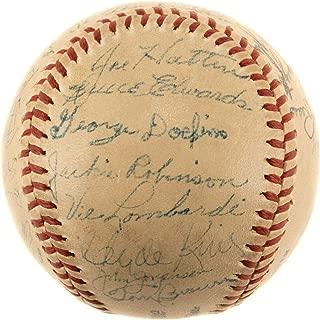 1947 brooklyn dodgers autographed baseball
