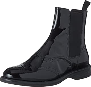 Womens Vagabond Amina Office Work Block Heel Patent Leather Ankle Boot