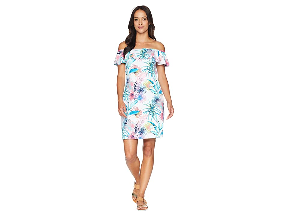 Tommy Bahama - Tommy Bahama Fronds Ferdi Ruffle Spa Dress Cover-Up