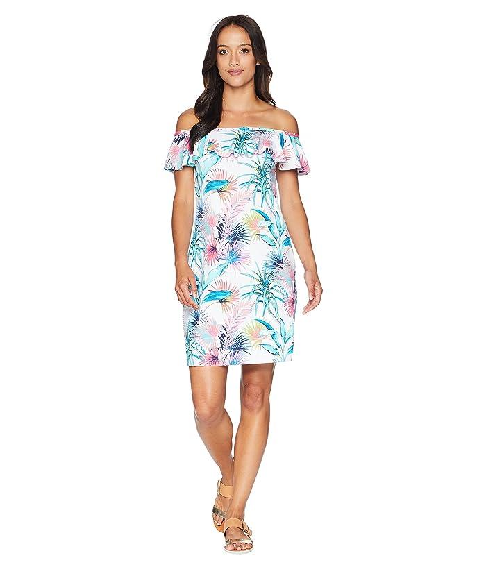 Tommy Bahama Fronds Ferdi Ruffle Spa Dress Cover-Up (White) Women