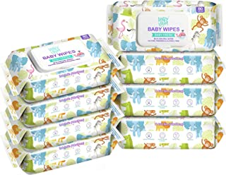 Baby Wipe - HAPPY BUM Baby Wet Wipes, Baby Water Wipes Unscented, 8 Packs, 640 Count