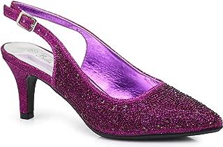Enzo Romeo Jupiter Women's Pointy Toe High Mid Heel Sexy Ankle Strap Sandals Ballerina Dress Pump Ballet Wedding Patent Harlow Pump Shoes