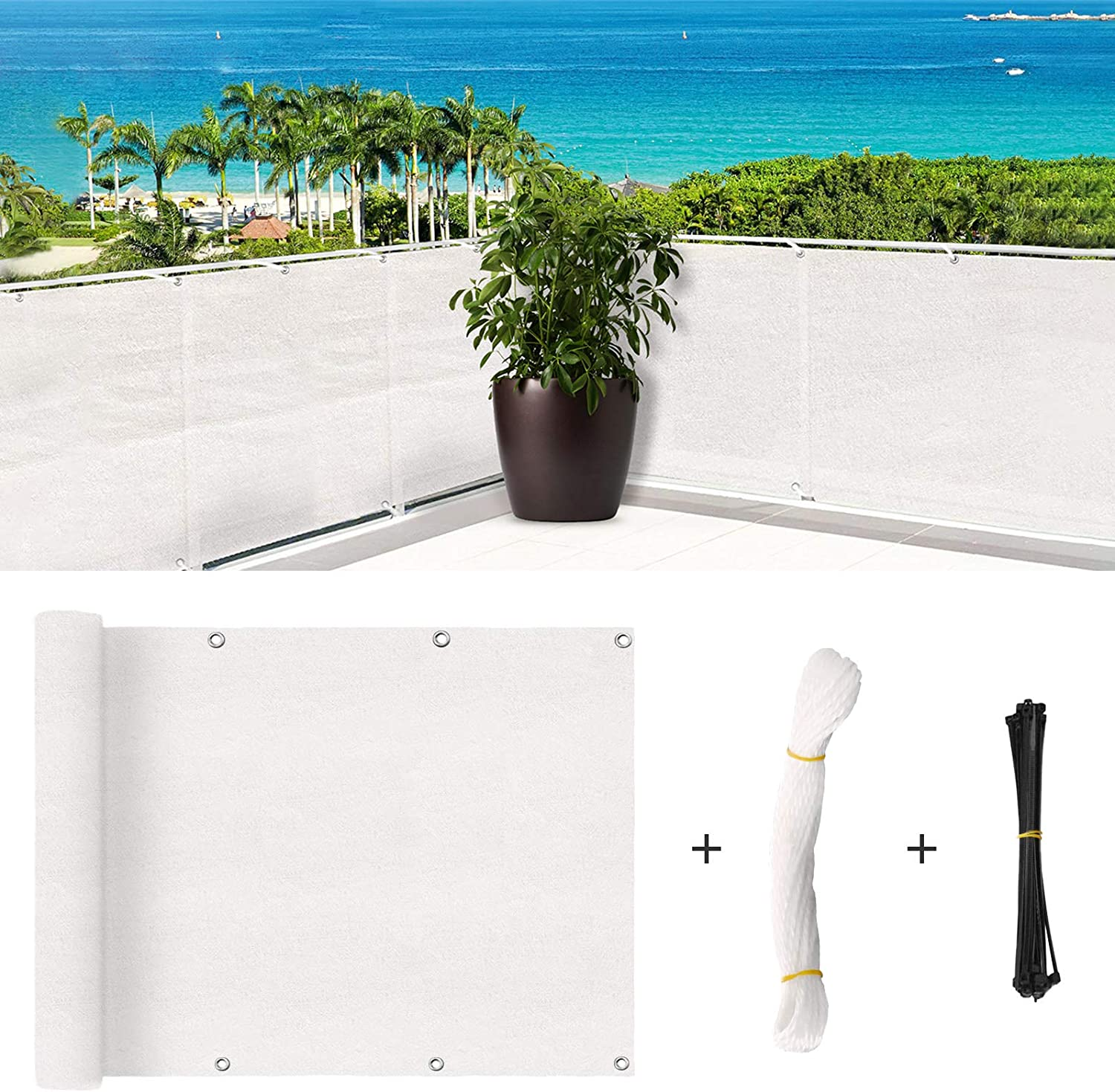 SHOWIN Challenge the lowest price of Japan Balcony Privacy Screening Cover Discount mail order for Fence Sun Pr Covering