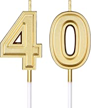 40th Birthday Candles Cake Numeral Candles Happy Birthday Cake Candles Topper Decoration for Birthday Wedding Anniversary ...