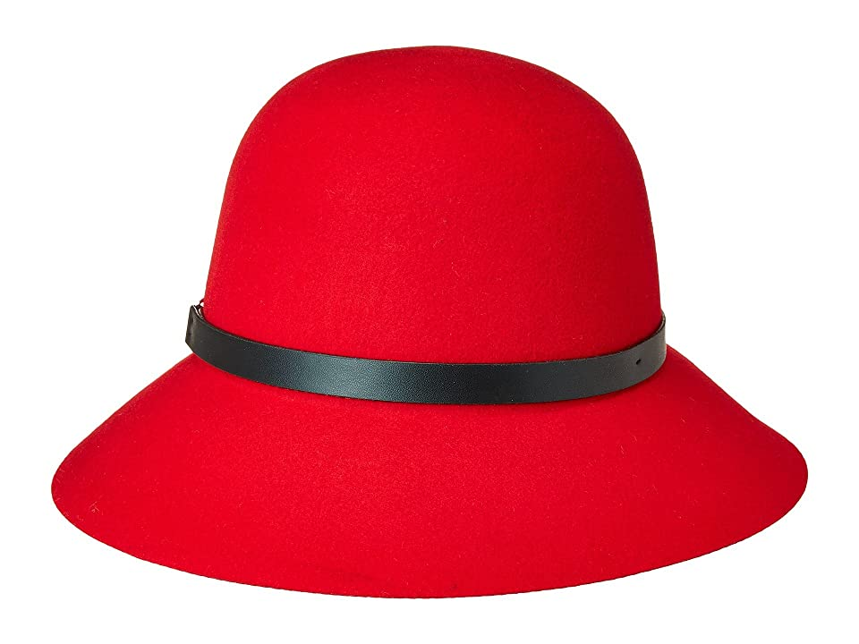 1920s Style Hats San Diego Hat Company Packable Cloche Red Caps $67.50 AT vintagedancer.com