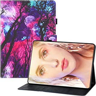 Miagon för Huawei MediaPad T3 10 {9,7 tum} fodral, PU-läder folio stativ plånbok magnetiskt fodral med kortfickor, träd