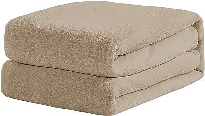 Universal Home Fashions Velvet Plush Blanket Taupe King 90x102 (16289)