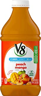 Sponsored Ad - V8 Light Peach Mango, 46 Fl Oz (Pack of 6)