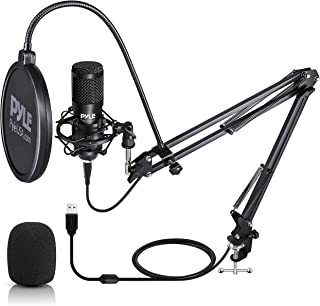 USB Microphone Boom Mic Kit - Audio Cardioid Condenser Mic w/Boom Arm Stand and Pop Filter - for Gaming PS4, Streaming, Po...