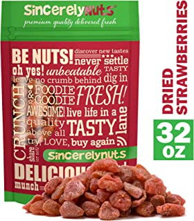Sincerely Nuts Dried Strawberries (2 LB) Bulk Dried Fruit-Gluten-Free, Vegan & Kosher Snack-Fresh from Thailand -The Perfect Snack for Your Sweet Tooth Craving