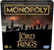 Hasbro Gaming Monopoly: The Lord of The Rings Edition Board Game Inspired by The Movie Trilogy, Play as a Member of The...