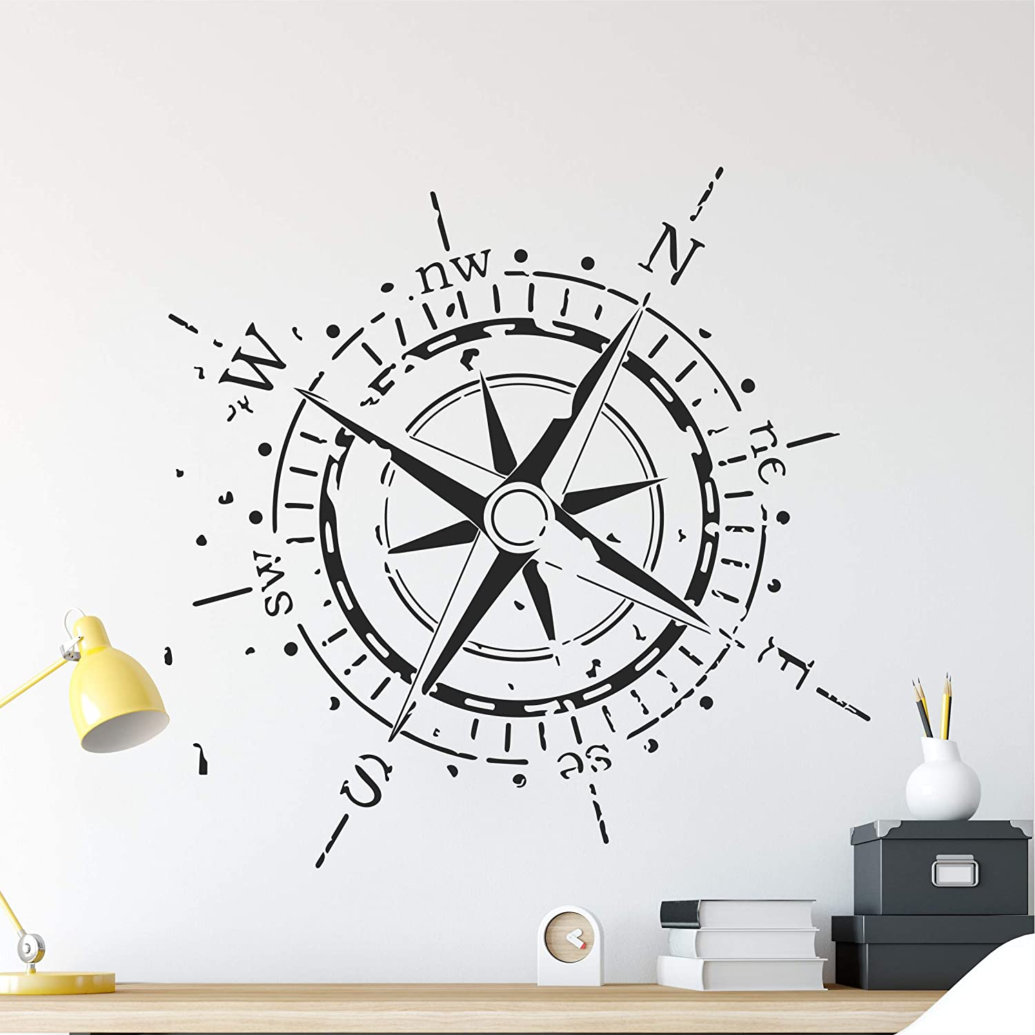 Wallency Navigation Compass Rose Wall High Quality Remov Max 70% OFF - Max 80% OFF Decal
