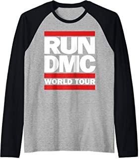 Run DMC Official World Tour Logo Raglan Baseball Tee