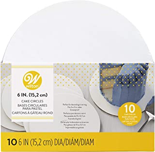 Wilton 2104-64 10 Pieces Wilton Cake Boards, White, Round