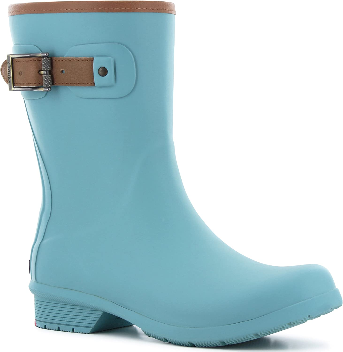 Chooka Womens City Solid Mid Rain Boots