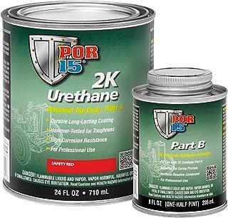 POR-15 43274 Safety Red 2K Urethane - 1 quart