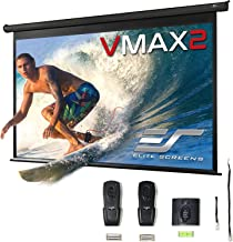 Elite Screens VMAX2, 150-inch 16:9, Wall Ceiling Electric Motorized Drop Down HD Projection Projector Screen, VMAX150UWH2