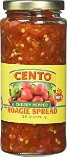 Cento Diced Hot Cherry Peppers, Hoagie Spread 12 Ounce (Pack of 6)