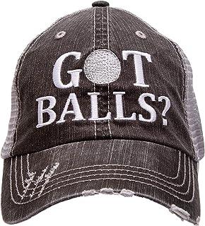 07435a5b6eb13 Golf Addiction GOT Balls  Funny Trucker Distressed Embroidered Hat Cap Mens  Golf Gift Black