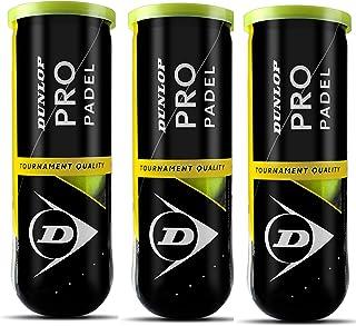 Dunlop Pro Pelota de pádel, Amarillo, pack de 3 . Total 9 pelotas