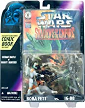 Star Wars Shadow of the Empire Boba Fett vs. IG-88 comic and figures